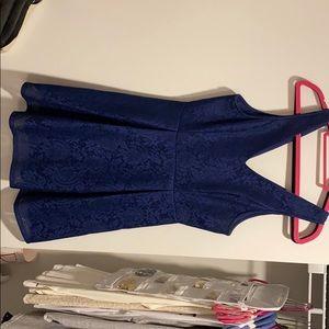 Lacy navy blue dress